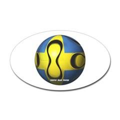 Sweden Soccer Oval Decal