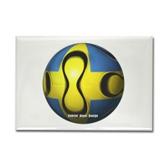 Sweden Soccer Rectangle Magnet