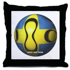 Sweden Soccer Throw Pillow