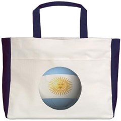 Argentina Soccer Beach Tote Bag