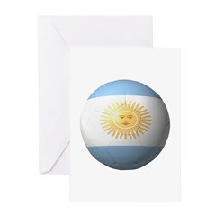 Argentina Soccer Greeting Cards (Pk of 10)