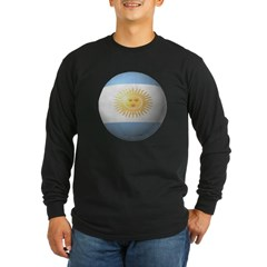 Argentina Soccer Long Sleeve Dark T-Shirt