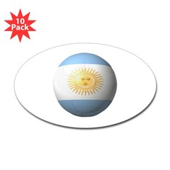 Argentina Soccer Oval Decal 10 Pack