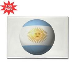 Argentina Soccer Rectangle Magnet (100 pack)