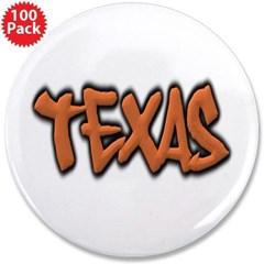 """Texas Graffiti 3.5"""" Button (100 pack)"""