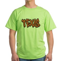 Texas Graffiti Green T-Shirt