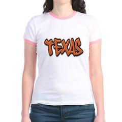 Texas Graffiti Junior Ringer T-Shirt