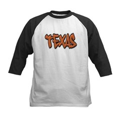 Texas Graffiti Kids Baseball Jersey T-Shirt
