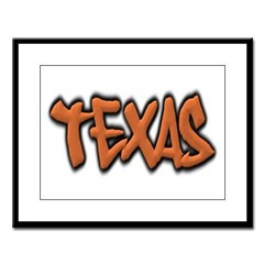 Texas Graffiti Large Framed Print