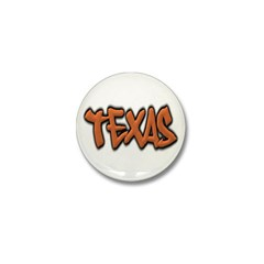 Texas Graffiti Mini Button