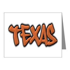 Texas Graffiti Note Cards (Pk of 10)