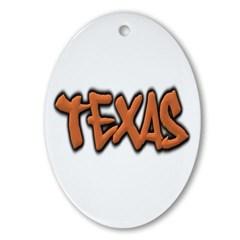 Texas Graffiti Ornament (Oval)