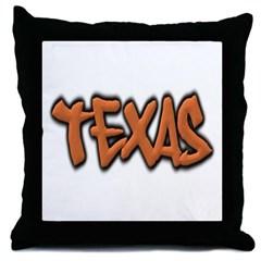 Texas Graffiti Throw Pillow