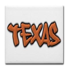 Texas Graffiti Tile Coaster