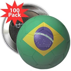"Brazil Soccer 2.25"" Button (100 pack)"