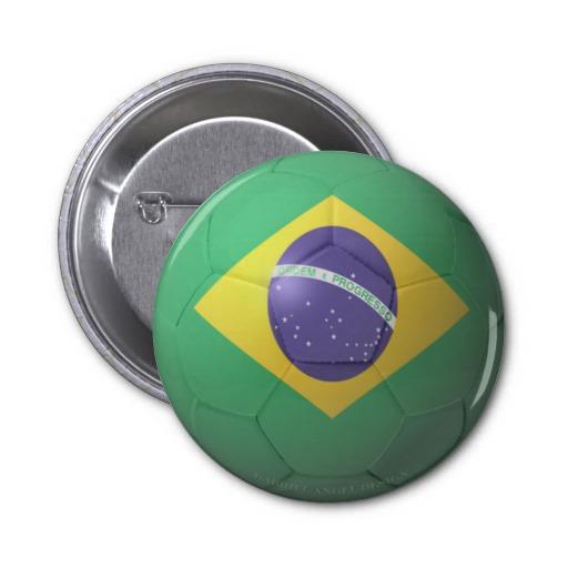 Brazil Soccer 2 Inch Round Button