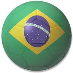 """Brazil Soccer 3.5"""" Button"""