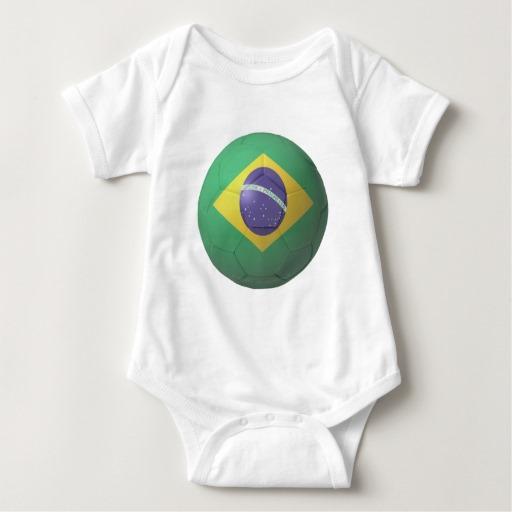 Brazil Soccer Baby Jersey Bodysuit