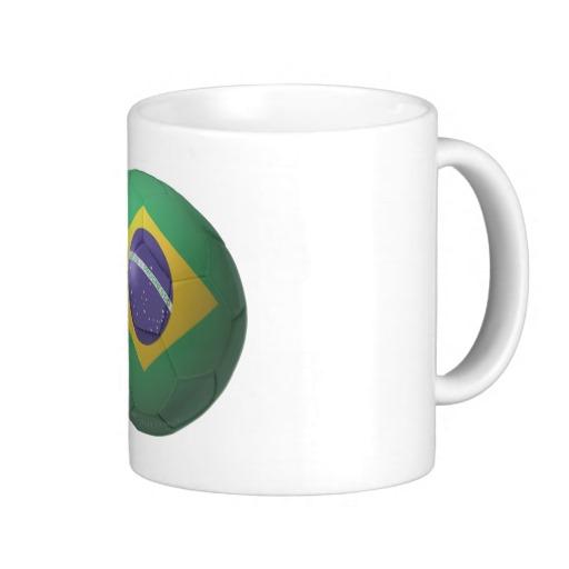 Brazil Soccer Classic White Mug