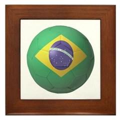 Brazil Soccer Framed Tile