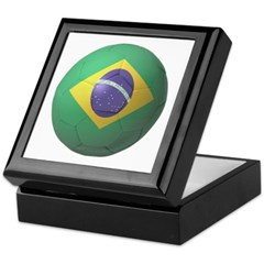 Brazil Soccer Keepsake Box