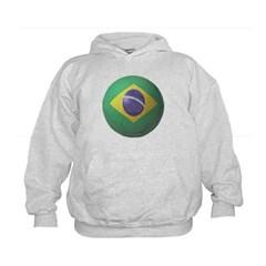 Brazil Soccer Kids Sweatshirt by Hanes