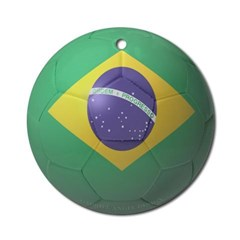 Brazil Soccer Ornament (Round)