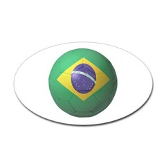 Brazil Soccer Oval Decal