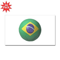 Brazil Soccer Rectangle Decal 50 Pack