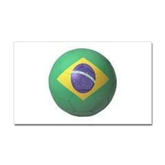 Brazil Soccer Rectangle Decal