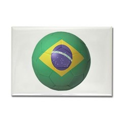 Brazil Soccer Rectangle Magnet