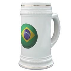 Brazil Soccer Stein