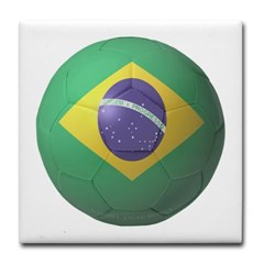 Brazil Soccer Tile Coaster