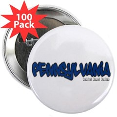 "Pennsylvania Graffiti 2.25"" Button (100 pack)"