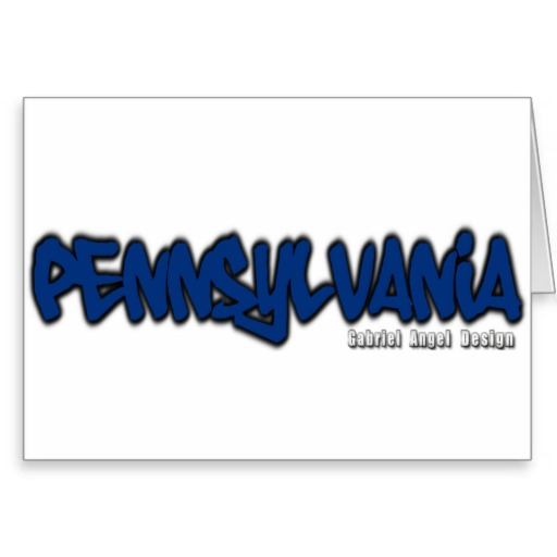 Pennsylvania Graffiti Greeting Card