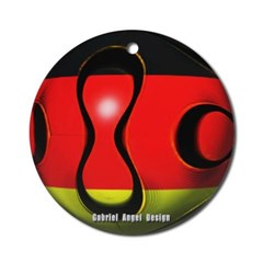 Germany Soccer Ornament (Round)