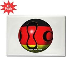 Germany Soccer Rectangle Magnet (10 pack)