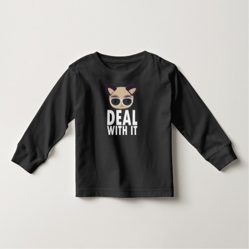 Deal With It Cat Toddler Long Sleeve T-Shirt