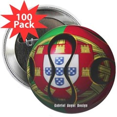 """Portugal Soccer 2.25"""" Button (100 pack)"""