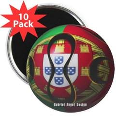 "Portugal Soccer 2.25"" Magnet (10 pack)"