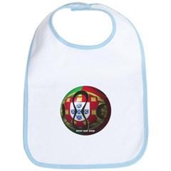 Portugal Soccer Baby Bib