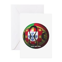 Portugal Soccer Greeting Cards (Pk of 10)