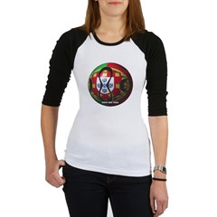 Portugal Soccer Junior Raglan T-shirt