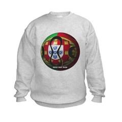 Portugal Soccer Kids Crewneck Sweatshirt by Hanes