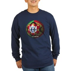 Portugal Soccer Long Sleeve Dark T-Shirt