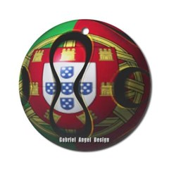 Portugal Soccer Ornament (Round)