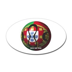 Portugal Soccer Oval Decal