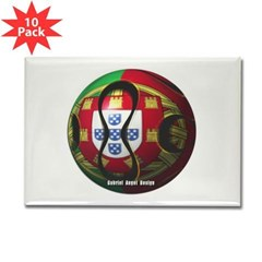 Portugal Soccer Rectangle Magnet (10 pack)