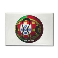 Portugal Soccer Rectangle Magnet