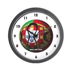 Portugal Soccer Wall Clock